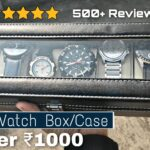 Best Watch Box for Men | Watch Case in India 2021